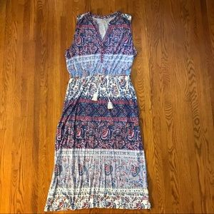 Lucky Brand pastel floral maxi dress